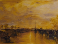 """Chichester Canal"" d'après W.Turner oil on canvas  92cm x 60cm"